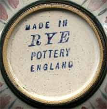 Pink striped Rye pot (mark)