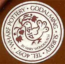 Mary Wondrausch plate (label)