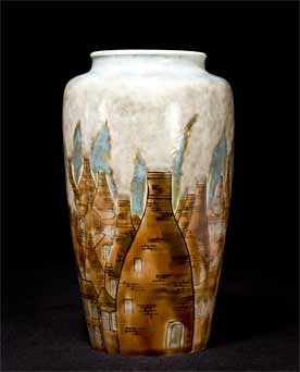 Large Cobridge bottle kiln vase