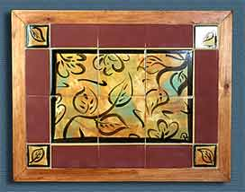 Framed leaf tiles