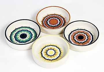 Four Hornsea Muramic dishes