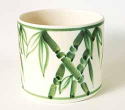 Poole bamboo pot