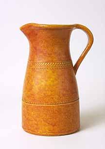 Orange mottled Dicker jug