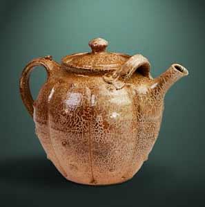Finnegan crackle slip teapot