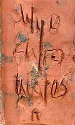 Wye relief plaque 3 (mark)