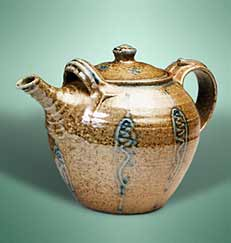 Salt glazed teapot