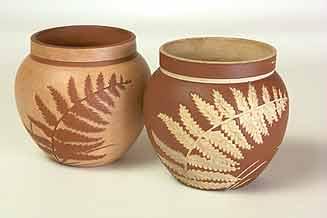 Pair of Salopian pots