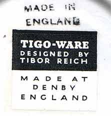 Tibor Reich Denby dish (mark)