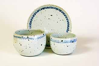 Dish and two bowls