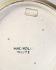 Magnolia white Poole vase (mark)