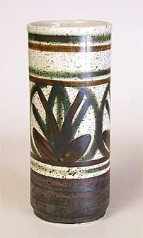 Cylindrical Cinque Ports vase
