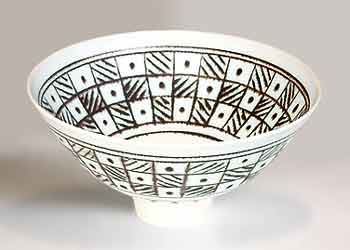 White inlaid Wills bowl (different angle)