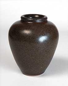 Brown Aylesford vase