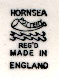 Small Hornsea vase (mark)