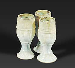 Three Saxby goblets