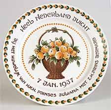 Juliana commemorative plate