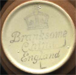 Branksome cups and saucers (mark)