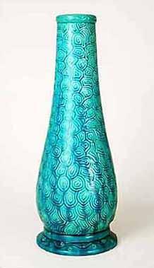 Tall Burmantofts vase