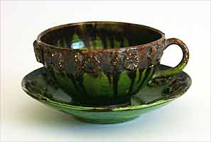 Green Rye cup and saucer
