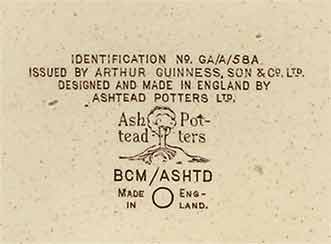 Ashtead Guinness ashtray (mark)