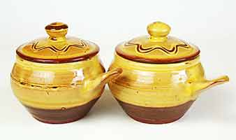 Two Charles Tustin soup bowls