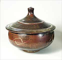 Lidded bowl by Bernard Leach