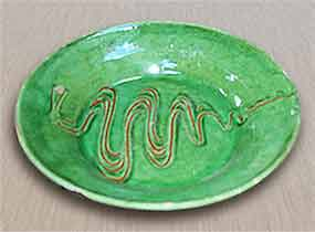 E B Fishley plate
