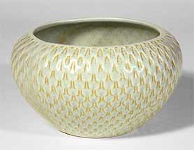 Bretby dimpled bowl