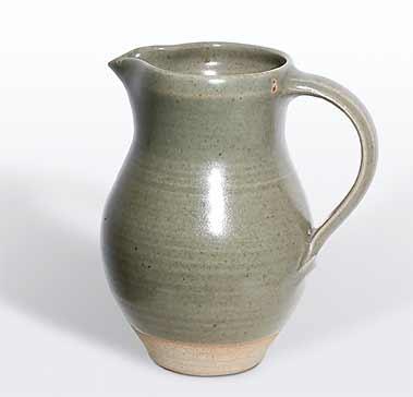 David Leach celadon jug