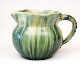 Green streaky jug