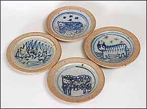 Aller Pottery animal dishes