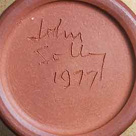 John Solly lidded jar (mark)