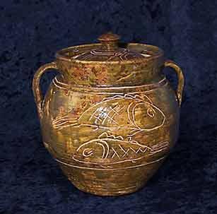 Large lidded Michael Cardew jar