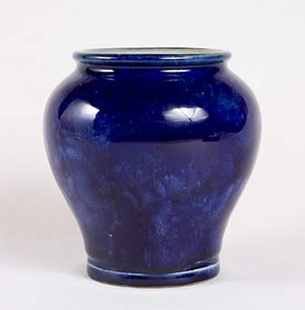 Blue Doulton vase