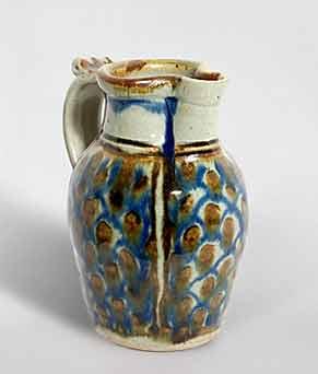 Nic Harrison blue decorated jug