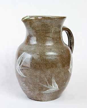 Large Fishley Holland jug