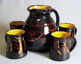 Fishley Holland cider set
