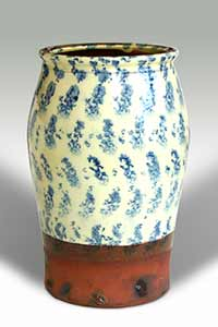 Slip decorated Andrew Marshall vase
