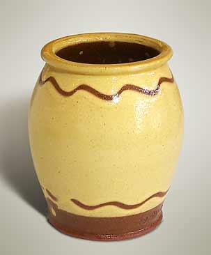 Small slipware jar