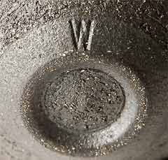 John Wheeldon metal lustre vase (mark)