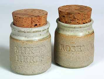 Vellow herb jars