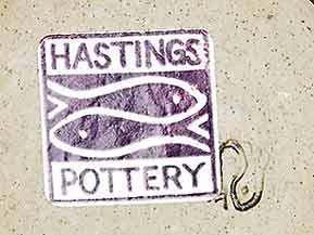Stoneware Hastings candle holder (mark)