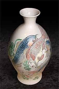 Adrian Brough fish vase