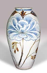 Large Cardew floral jar