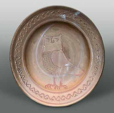 Bernard Leach owl plate