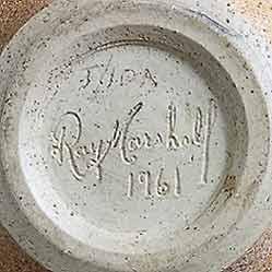 Ray Marshall vase (mark)