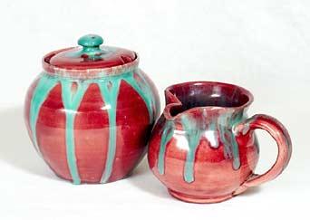 Fishley Holland jug and bowl