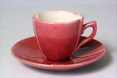 Burmantofts cup and saucer