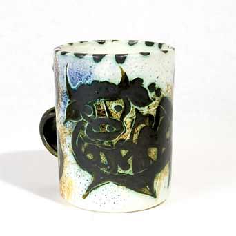 Early Celtic Folk bull mug
