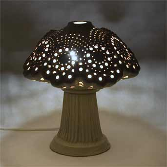 Rooke lamp (lit)